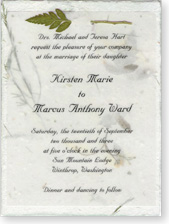 "4.5""x6"" Invitation with Fern Attachment"