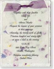 "4.5""x6"" Invitation with Organdy Bow"