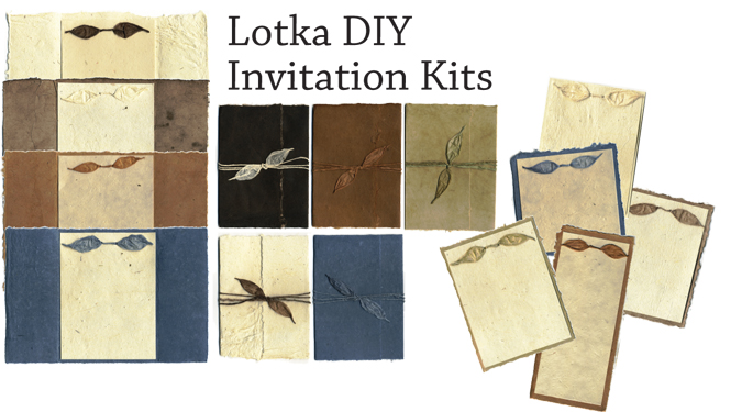 eco-friendly plantable recycled invitation kits