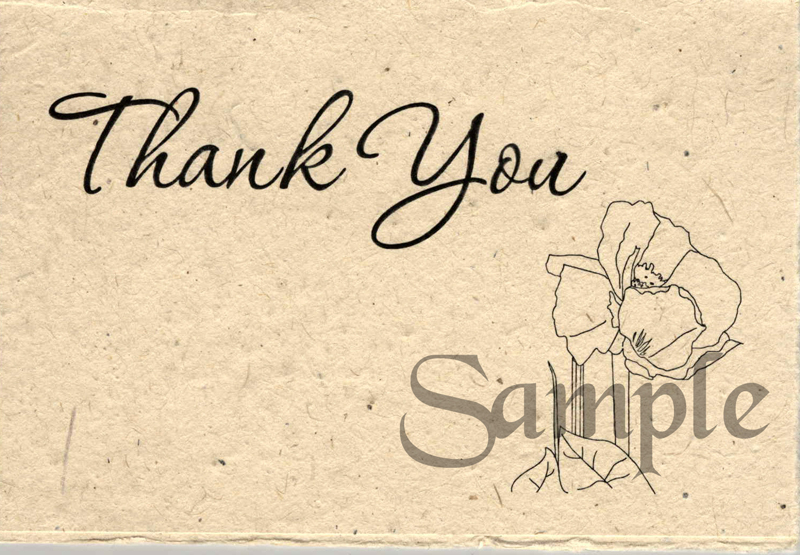 Thank You Cards Handmade Cards Pressed Flower Petals And
